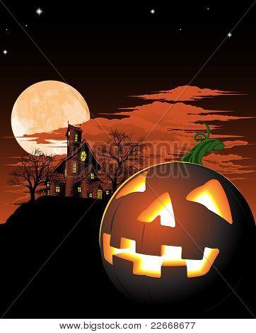 Halloween calabaza fondo