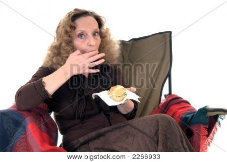 Woman, Lunch Break
