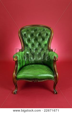 Green Leather Chair