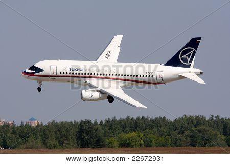Passenger Plane Sukhoi Superjet-100.