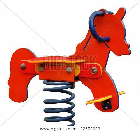 spring rocking-horse (isolated with clipping path)