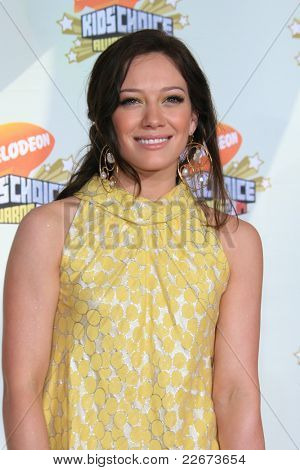 LOS ANGELES - MAR 31: Hilary Duff at the 2007 Kids' Choice Awards at UCLA in Los Angeles, California on March 31, 2007