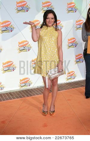 LOS ANGELES - 31 de MAR: Hilary Duff en el 2007 Kids' Choice Awards en UCLA en Los Angeles, California