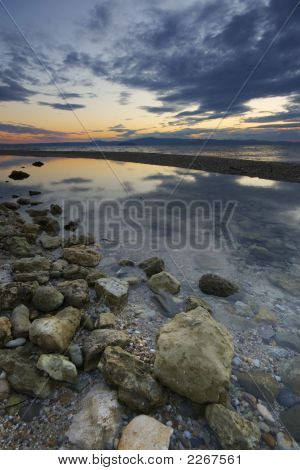 Rock Pool At Dawn