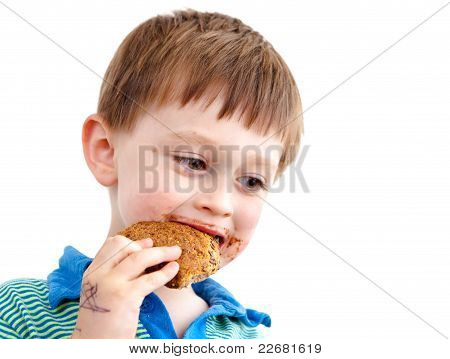 Eating Biscuit