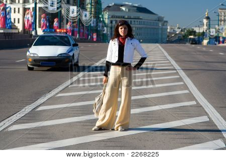 Woman At Road