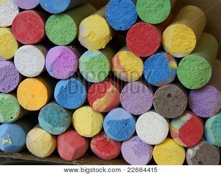 Color Chalk Close-up