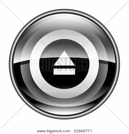 Eject Icon Black, Isolated On White Background.