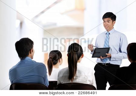 Business Colleagues Having A Meeting