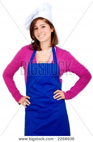 Retrato de mujer Chef