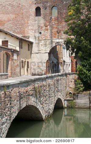 Castelfranco Veneto (treviso, Veneto, Italy) - Ancient Gate And Bridge