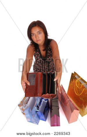 Woman With Empty Purse