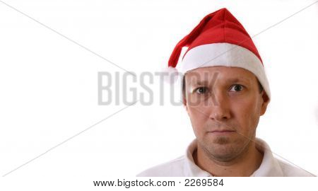 Serious Young Santa
