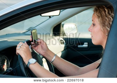 Reading Sms While Driving Car