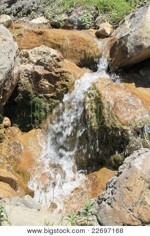 small picturesque waterfall