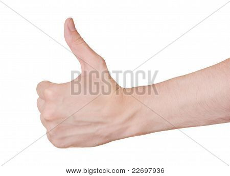 Good Hand Gesture Isolated