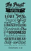 Hand Lettering The Fruit Of The Spirit . Bible Verse. Christian Poster. New Testament. Galatians. Gr poster