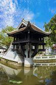 One Pillar Pagoda In Hanoi, Vietnam. One Of Beauty-spots In Hanoi, The One-pillar Pagoda Is A Popula poster