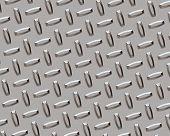 Diamond Plate Chrome Outdoor poster