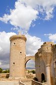 Bellver Castle Castillo tower in Majorca at Palma de Mallorca Balearic Islands