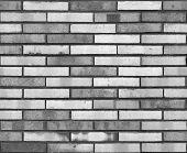 Seamless Black White Wall Pattern Background Texture. Seamless Brick Wall Background. Architectural  poster