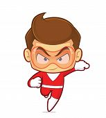 Clipart Picture Of A Superhero Cartoon Character Running poster
