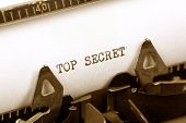 image of top-secret  - Typewriter close up shot Concept of Top Secret - JPG