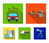 Automotive Industry And Other  Icon In Flat Style.new Technologies Icons In Set Collection. poster