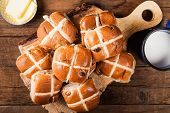 Easter Breakfast With Hot Cross Buns poster