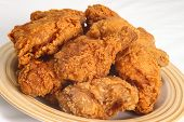 stock photo of southern fried chicken  - A plate of southen - JPG