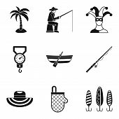 Hobby For Relaxation Icons Set. Simple Set Of 9 Hobby For Relaxation Vector Icons For Web Isolated O poster