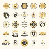 Retro Vintage Logotypes Set. Vector Design Elements, Business Signs, Logos, Identity, Labels, Badges poster