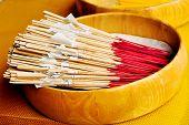 image of glorify  - Many of joss stick for Buddha worship - JPG