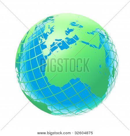 Transparente el globo verde y el azul del Color
