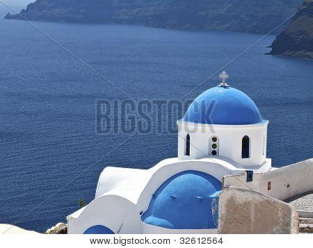 Oia village at Santorini island