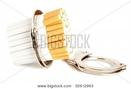 Cigarette  and  handcuffs