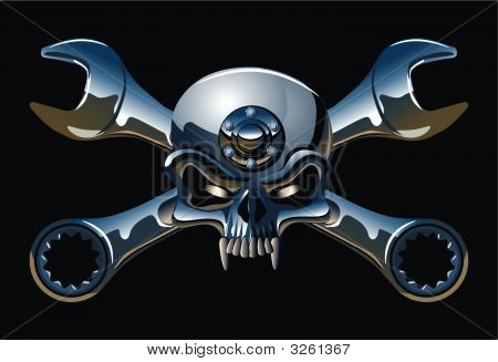 Vector Metall Jolly Roger