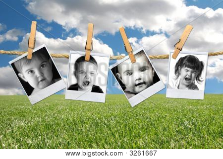 Many Expressions Of A Young Toddler Child In Film