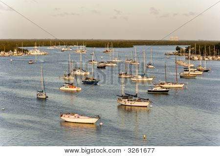 Beautiful View With Boats