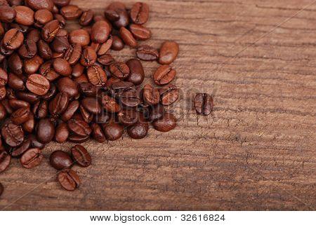 dark wood texture with coffee