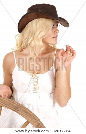 Cowgirl Wagon Wheel Hand Up