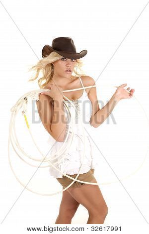 Cowgirl With A Rope