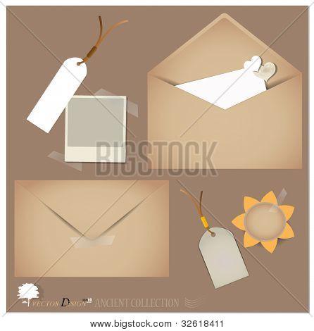 Vector set: Vintage envelope designs.