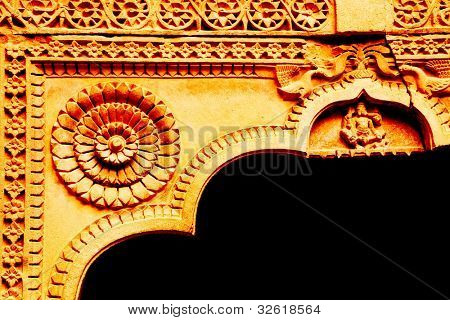 Architectural detail of Mandir Palace, Jaisalmer, India, Asia