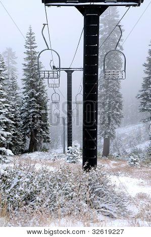 Old Abandoned Ski Lift