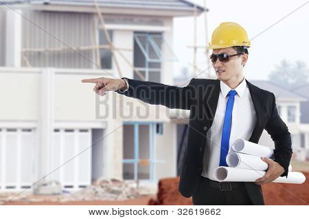 Architect Pointing