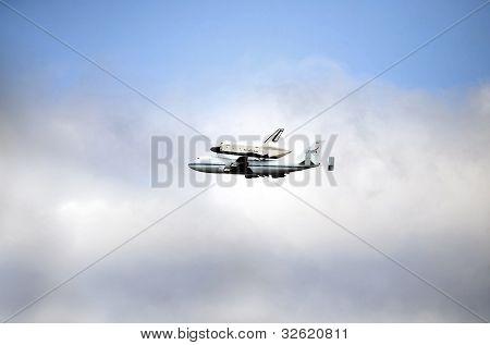Space Shuttle Enterprise Mounted On 747 Jumbo Plane