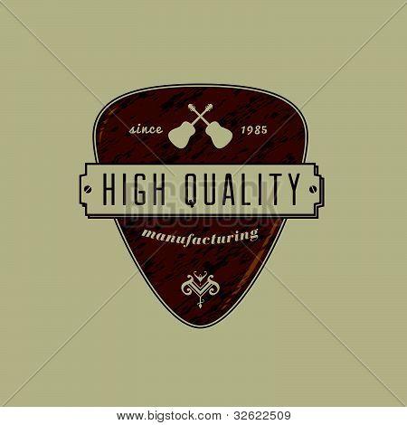 Vintage Guitar Pick Crest
