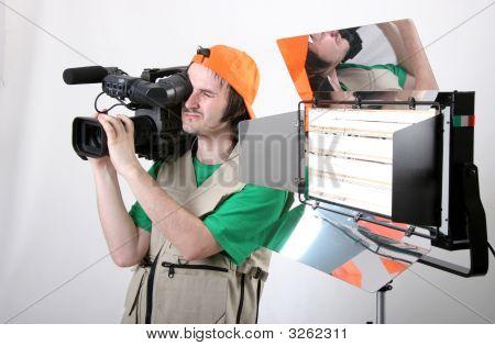Cameraman Shot With Light