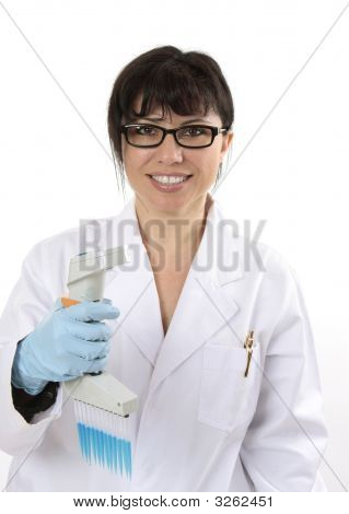 Smiling Scientific Researcher